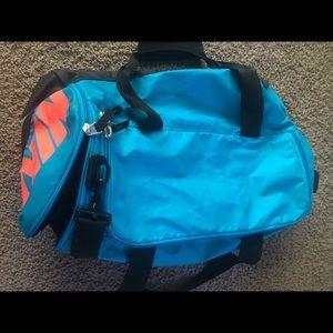 nike duffel bag in blue